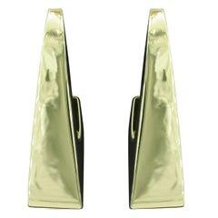 Michael Sugarman Half-Hoop Gold Earrings