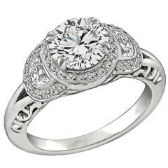 Ritani 1.24 Carat GIA Cert Diamond Platinum Engagement Ring