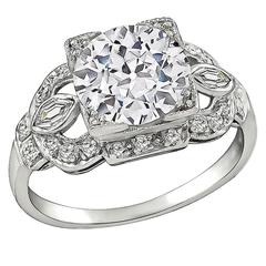 2.24 Carat GIA Cert Diamond Platinum Engagement Ring