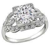 2.24 Carat GIA Cert Diamond Platinum Engagement Ring