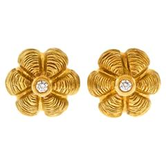 Tiffany & Co. Diamond-Set Gold Earrings