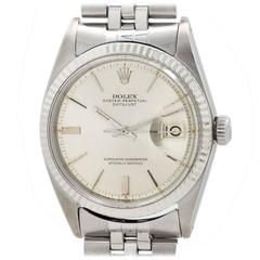 Rolex Stainless Steel Datejust Automatic Wristwatch Ref 1601 1966