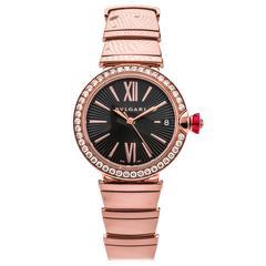Bulgari Ladies Rose Gold Diamond Wristwatch