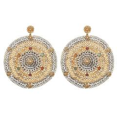 Tourmaline Diamond Gold Fiesta Earrings
