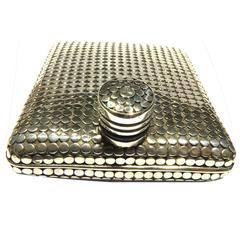 """Super Chic John Hardy """"Dot Collection"""" Sterling Silver Flask"""