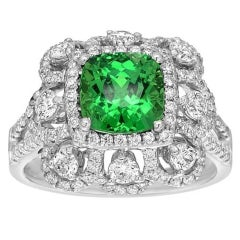 Gem Tsavorite Diamond Gold Ring