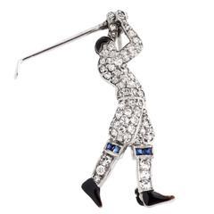 Tiffany & Company Diamond Golfer Pin