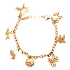 Cartier Gold Charm Bracelet