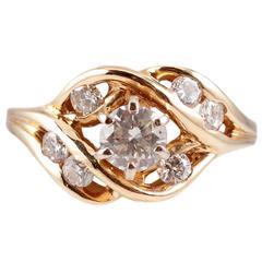1.00 Carat Diamond Ring in 14 Karat Yellow Gold