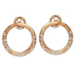 Large Diamond Gold Hoop Earrings