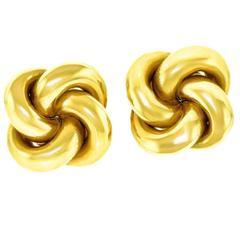 Tiffany & Co. Classic Gold Knot Earrings