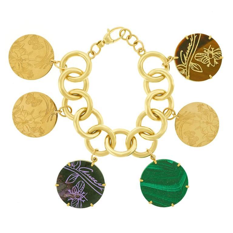 """9606ed77d69d2 Gucci """"Flora St. Tropez"""" Gold Charm Bracelet"""