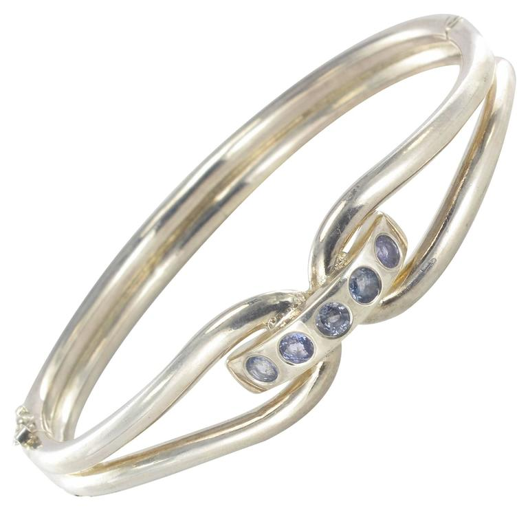 New Silver and Sapphire Bracelet