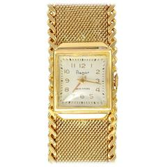 Flamor Ladies Yellow Gold Manual Wind Wristwatch