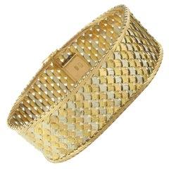 1960s Two Color Gold Woven Bracelet