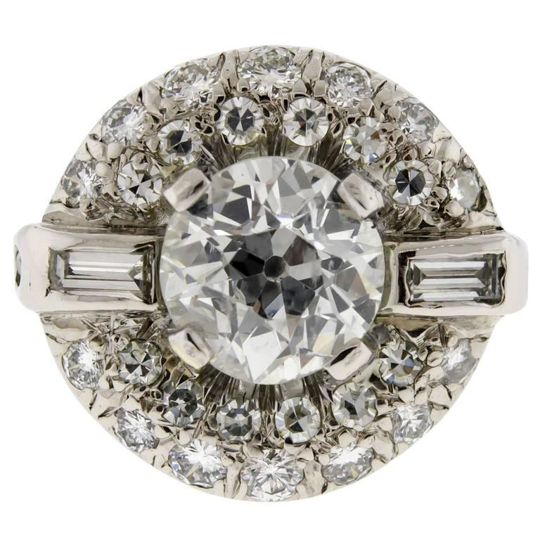 beautiful deco and platinum ring for sale at