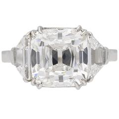 1930s English Art Deco old mine diamond solitaire ring