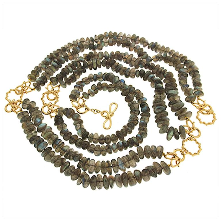 Valentin Magro Versatile Labradorite Roundel and Nuggets Necklace