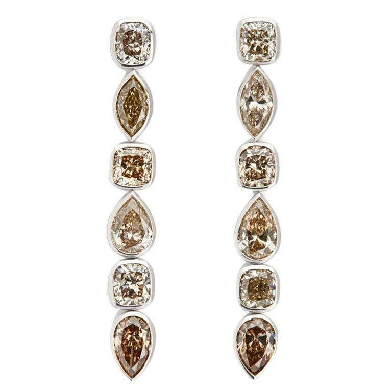 Colleen B. Rosenblat Diamond Gold Earrings For Sale