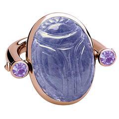 Colleen B. Rosenblat Tanzanite Sapphire Gold Ring