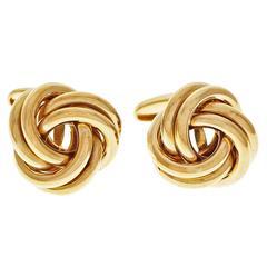 B. A. Ballou Gold Knot Cufflinks