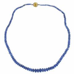 Buccellati Sapphire Two Color Gold Bead Necklace