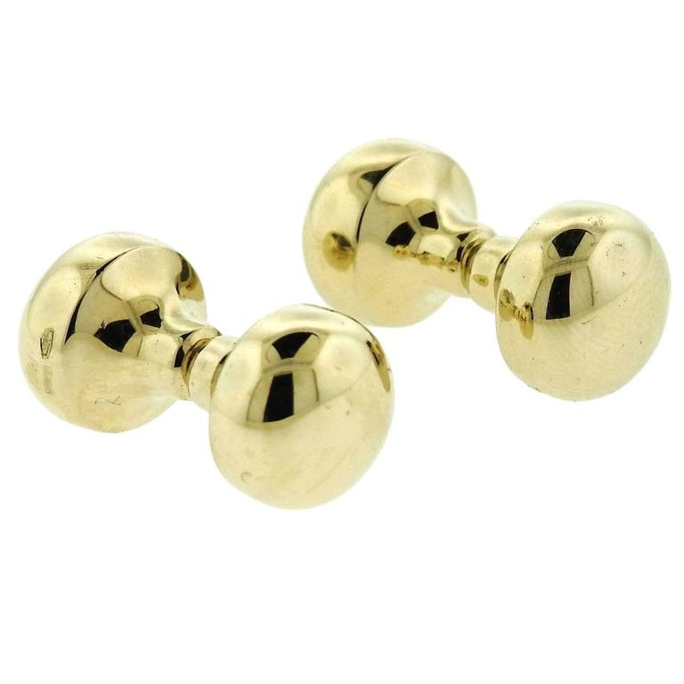 Pomellato Gold Bar Cufflinks