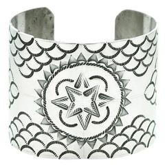 Early Navajo Sterling Cuff Bracelet