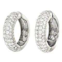 4.0 Carat Diamonds White Gold Earrings