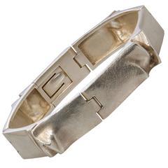 Mid Century Modernist Bjorn Weckstrom for Lapponia Sterling Ceres Bracelet