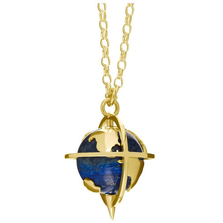 TPL Gold Lapis Customisable Globe Pendant