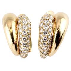 Van Cleef & Arpels Diamond Gold Earrings