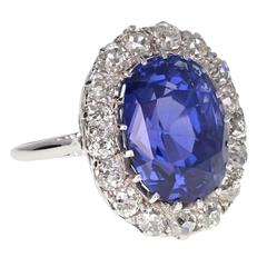 Colour Change Sapphire Diamond Gold Oval Cluster Ring