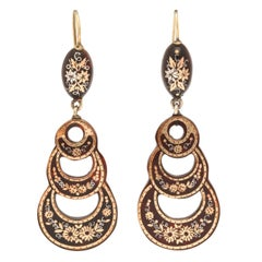 Antique Victorian Pique Earrings