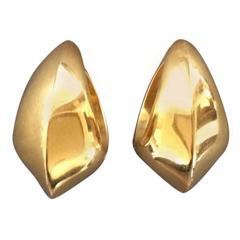 Georg Jensen Gold Ear Cuffs No 1126 by Nanna Ditzel