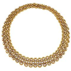 Italian 1970's Diamond and Gold Necklace