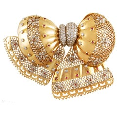 Van Cleef & Arpels Ruby, Diamond & Gold Brooch