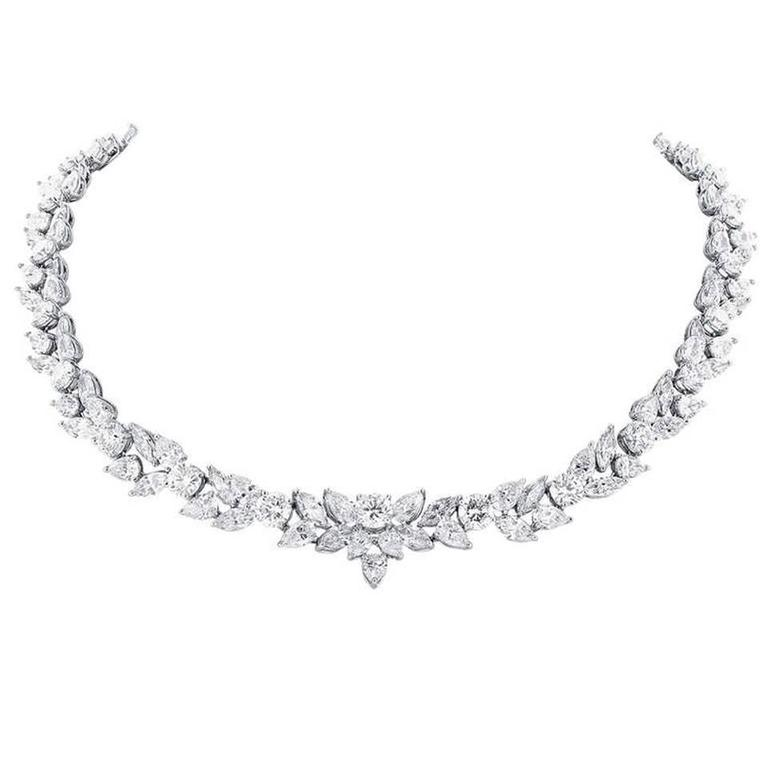 48.95 Carat Fancy Shape Diamonds Platinum Necklace