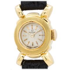 Lady Omega Yellow Gold Dress Wristwatch