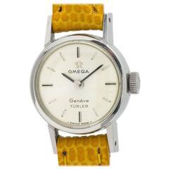 "Omega Ladies Geneve Stainless Steel ""Turler"" Wristwatch"