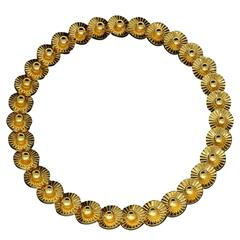 1959 Boucheron Gold Stylised Daisy Necklace