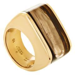 Gucci Smoky Topaz Gold Ring