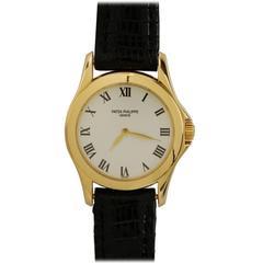 Patek Philippe Ladies Yellow Gold Calatrava Wristwatch Ref 4905