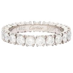 Cartier Contemporary Round Brilliant Diamond Platinum Eternity Band Ring