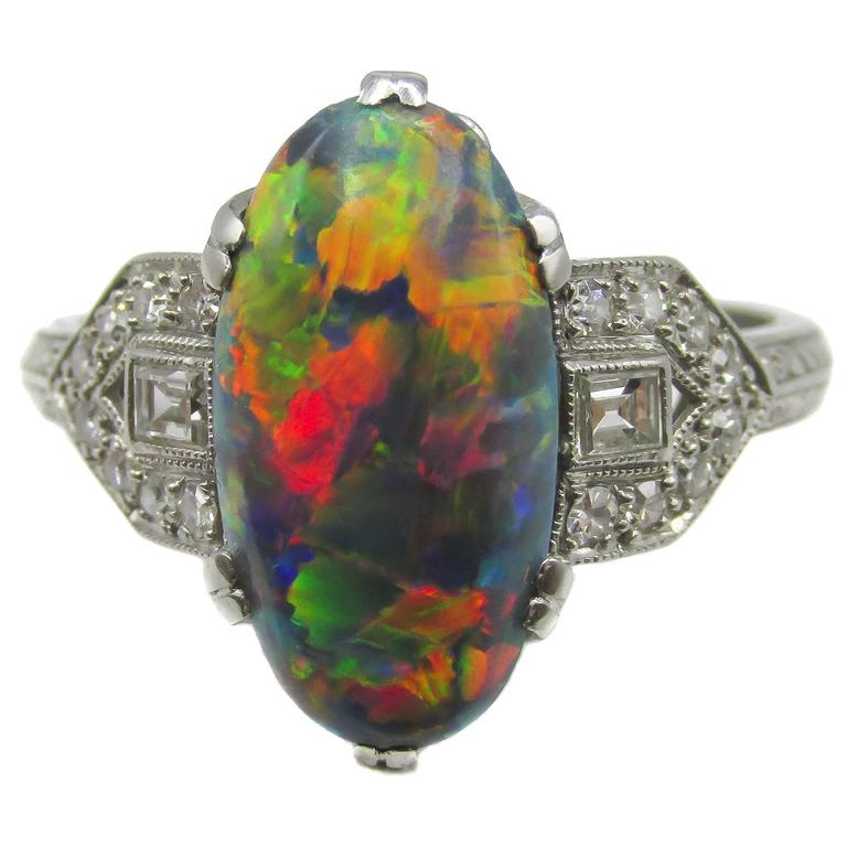 entourage cellini jewelers black rings diamond with ring lg jewelry oh opal