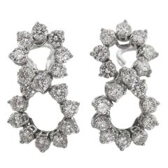 Tiffany & Co. Diamond Platinum Earrings