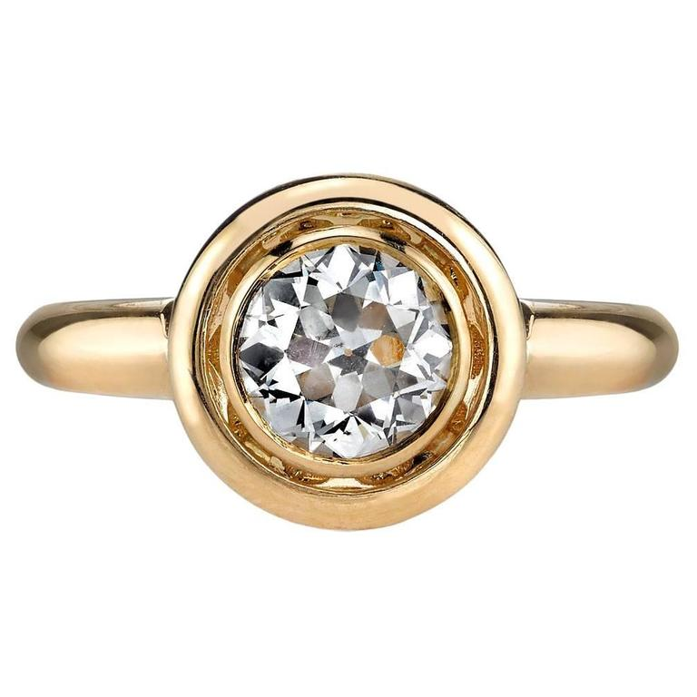 1.02 Carat Emerald Cut Diamond Gold Engagement Ring