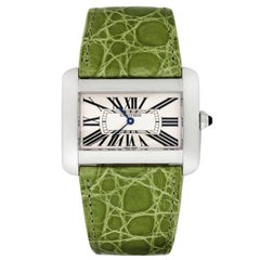 Cartier Ladies Stainless Steel Tank Divan Quartz Wristwatch