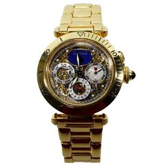 Cartier Yellow Gold Pasha de Cartier Skeletonised Tourbillon Automatic Watch