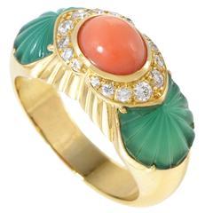 Cartier Gemstone Diamond Gold Ring